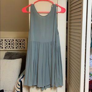 Teal babydoll dress